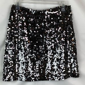 Michael Kors Grey Knit Sequined Skirt